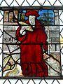 Néry (60), église Saint-Martin, verrière n° 1, lancette de droite - saint Jérôme.JPG