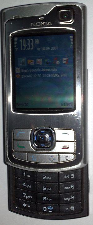 Nokia N80 - Nokia N80 with open slider
