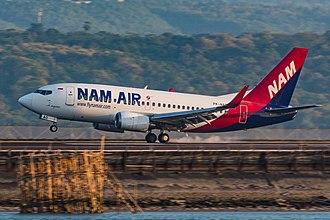 NAM Air - Boeing 737-500 landing at Bali's Airport
