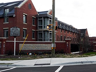 North Carolina Central University - North Carolina Central University entrance seen from S. Alston Avenue.
