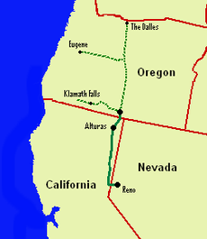Map Of California To Oregon.Nevada California Oregon Railway Wikipedia