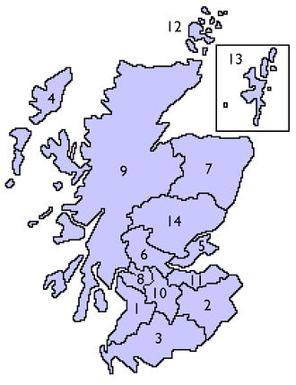NHS Scotland - Map of the territorial Health Boards