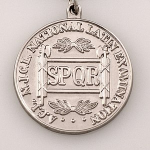 National Latin Exam - Image: NLE Silver Medal