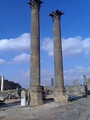 Nabatean Pillars Bosra