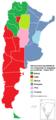 Nacionalidad mayoritaria de los inmigrantes en Argentina por provincia - Censo 2010.png