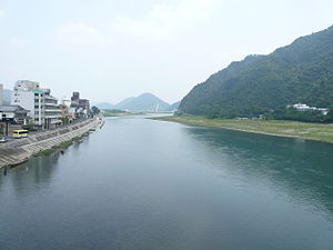 Nagara River - The Nagara River flowing through Gifu
