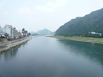 Gifu - Nagara River flowing through Gifu