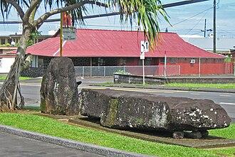 Naha Stone - The Naha Stone in Hilo, Hawaii.