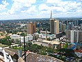 Nairobi from KCC (view on intercontinental hotel, church) - panoramio.jpg