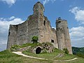 Najac Castle - Hilltop Ruin - Looking up at the Keep - panoramio.jpg