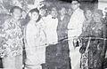 Nana Mayo with reporters Dunia Film 15 Jul 1954 p8.jpg