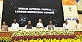 Narendra Modi launches the Pandit Deen Dayal Upadhyay Shramev Jayate Karyakram, in New Delhi. The Union Minister for Mines, Steel and Labour & Employment, Shri Narendra Singh Tomar, the Union Minister for Micro.jpg