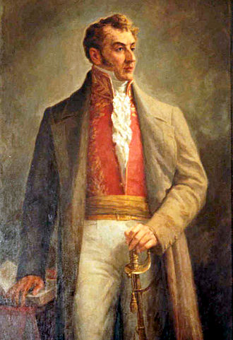 Antonio Nariño - Oil painting by Ricardo Acevedo Bernal.