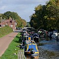 Narrowboats moored at Fradley Junction, Staffordshire - geograph.org.uk - 1562363.jpg