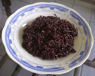 Black rice - Nonglutinous steamed black rice
