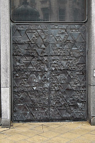 103 Colmore Row - The abstract doors to the Banking hall at the base of the building.