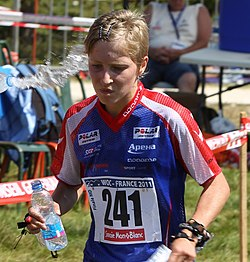 Natalia Vinogradova during the middle distance race at the World Orienteering Championships, Savoie, France - 20110819.jpg