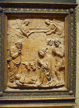 National gallery in washington d.c., francesco di simone ferrucci, adorazione dei pastori 1475-85.JPG