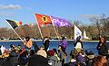 Native American flags at Beyond NoDAPL March on Washington, DC.jpg