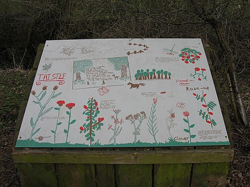 Nature Board by pupils of Longniddry Primary School - geograph.org.uk - 1773655