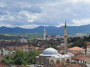 Gjakova - The Hadum Mosque and St. Paul Church characterize the historical city center