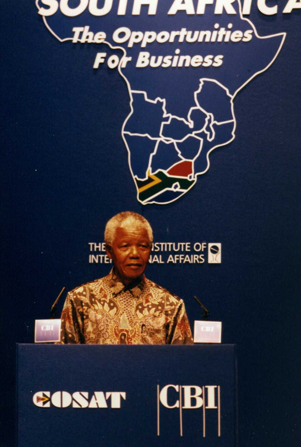Nelson Mandela at the %27South Africa The opportunity for business%27 conference, Chatham House.