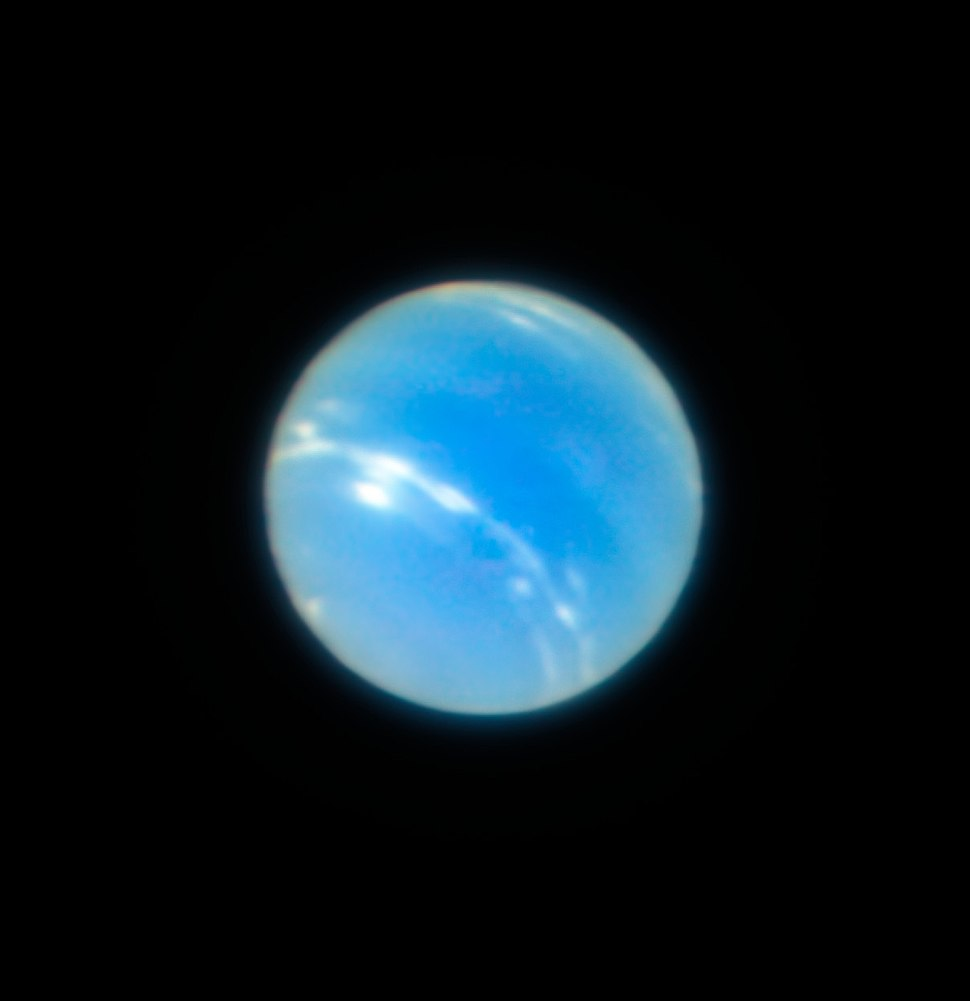 Neptune from the VLT with MUSE GALACSI Narrow Field Mode adaptive optics