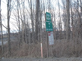 New Hartford, New York - Entering New Hartford and Oneida County along County Route24A.