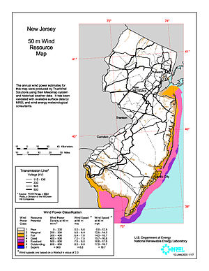 Wind power in New Jersey - The Atlantic Wind Connection will be built off the Jersey Shore.