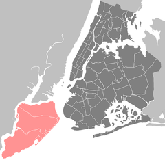 Death of Eric Garner is located in Staten Island
