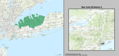 New York 's 3rd congressional district - since January 3, 2013.