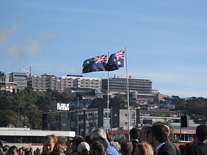 Australia–New Zealand relations - Australian and New Zealand flags flying side-by-side