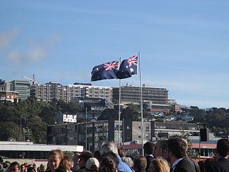 Australia–New Zealand relations - Flags of Australia and New Zealand flying side-by-side
