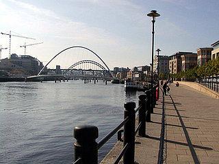 Quayside quay of the river Tyne