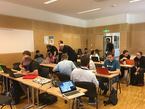 Newcomers at Wikimedia Hackathon 2017