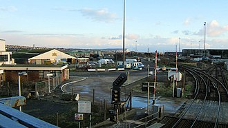 Seaford branch line - Image: Newhaven Harbour geograph.org.uk 867316