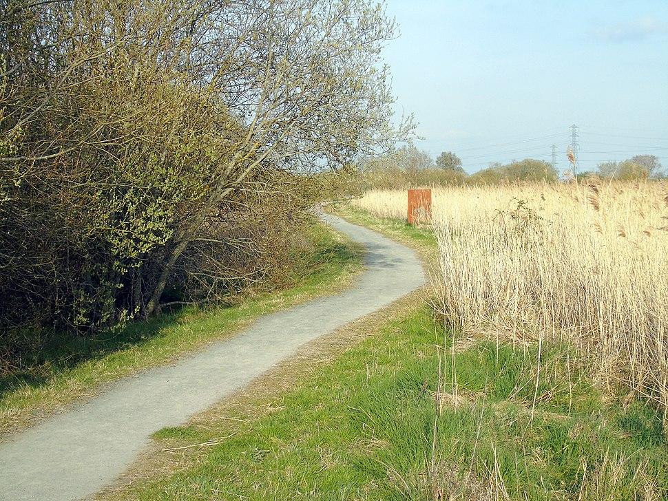 Newport Wetlands RSPB Reserve Cycle Path