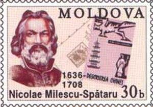 Nikolai Spathari - Nicolae Milescu Spătaru on a 2002 stamp of Moldova
