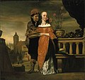 Nicolaes Maes - Man holding a carnation to a woman's nose an allegory of the sense of smell.jpeg
