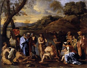 Saint John Baptising the People