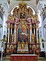 Niederaltaich Klosterbasilika St. Nikolaus Innen Hochaltar 2.JPG