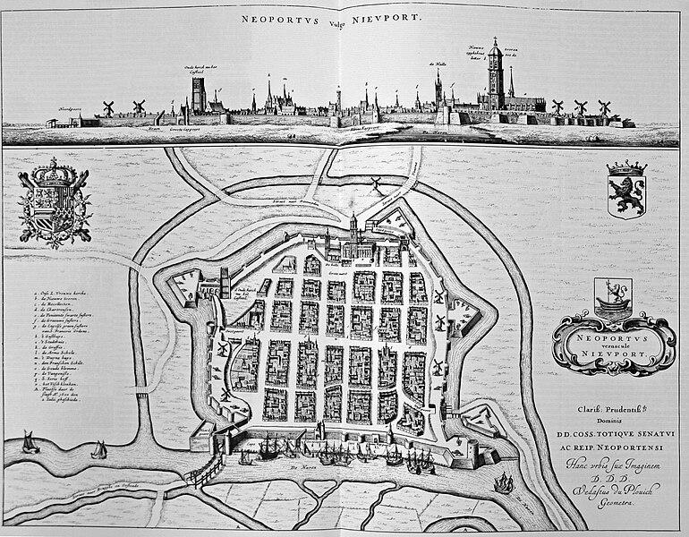 Nieuwpoort (Belgium): Page 636 of Antoon Sanders  Flandria Illustrata
