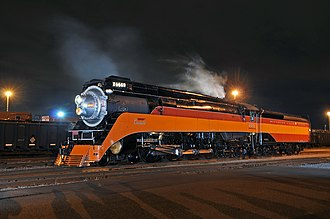Southern Pacific 4449 - SP 4449 under steam in Tacoma, WA in June, 2011.