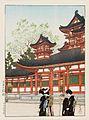 Nihon fūkei senshū, Kyōto Daigoku-den by Kawase Hasui.jpg