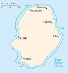 Niue Wikipedia - Niue map