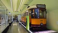 No 1089 single deck tram at the Riverside Museum.jpg