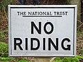 No riding - geograph.org.uk - 663133.jpg