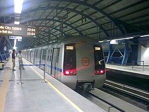 Noida City Centre Angkutan Cepat Delhi Wikipedia Bahasa