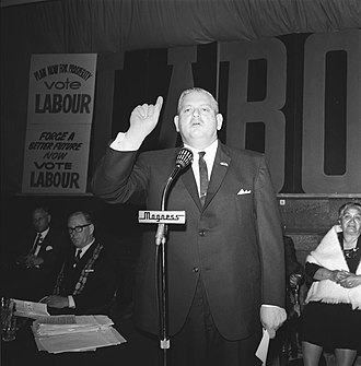 1966 New Zealand general election - Kirk opening Labour's campaign
