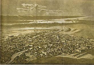 Norrköping - Norrköping in 1876.